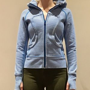 Lululemon hoodie blue and white stripe